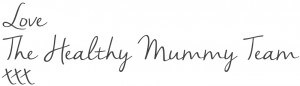 Healthy Mummy blog signature