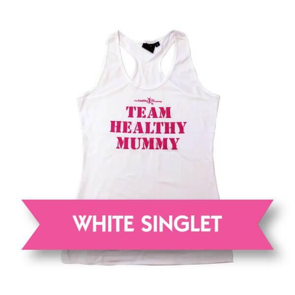 White Healthy Mummy Singlet