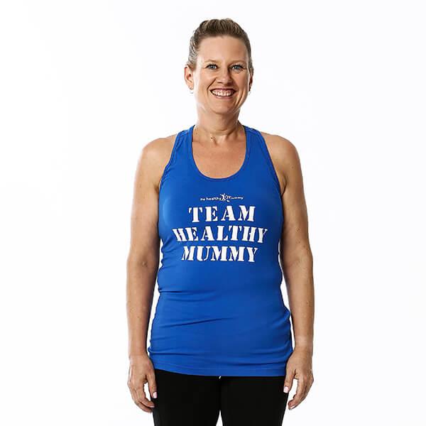 Team Healthy Mummy Blue Singlet