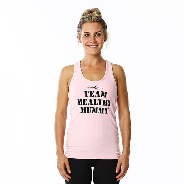 Team Healthy Mummy Light Pink Singlet