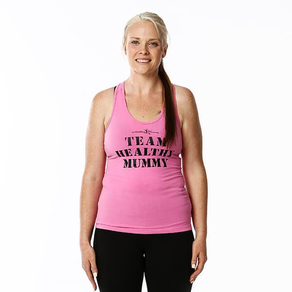 Team Healthy Mummy Pink Singlet