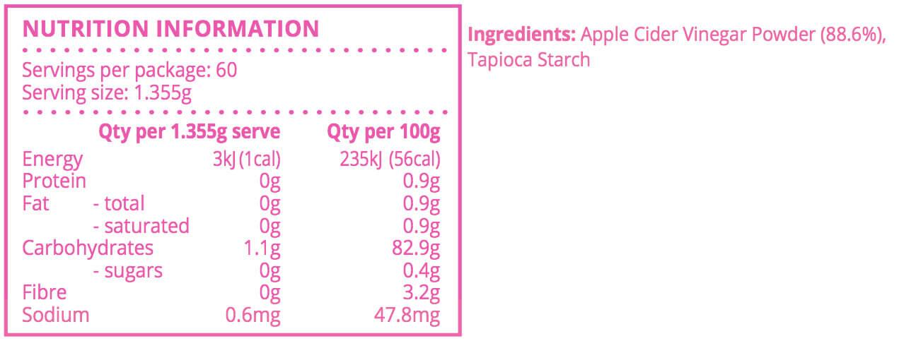 Apple Cider Vinegar Tablets - Nutrition for Mums
